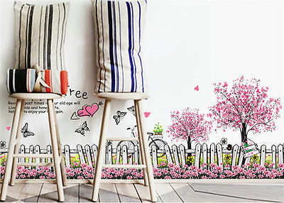 Diy Kamer Decoratie : Verwijderbare happy tree muursticker vlinder diy slaapkamer kamer