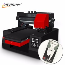 Jetvinner 2018 Automatic A3 UV Printer Inkjet Printer Commercial Flatbed Printers for Bottle, Phone Case, T-shirt, Leather, Wood