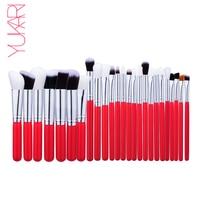YUKARI 25 Pcs Makeup Brush Set KIT Kwasten Make Up Beauty Blush Foundation Pro Powder Eye
