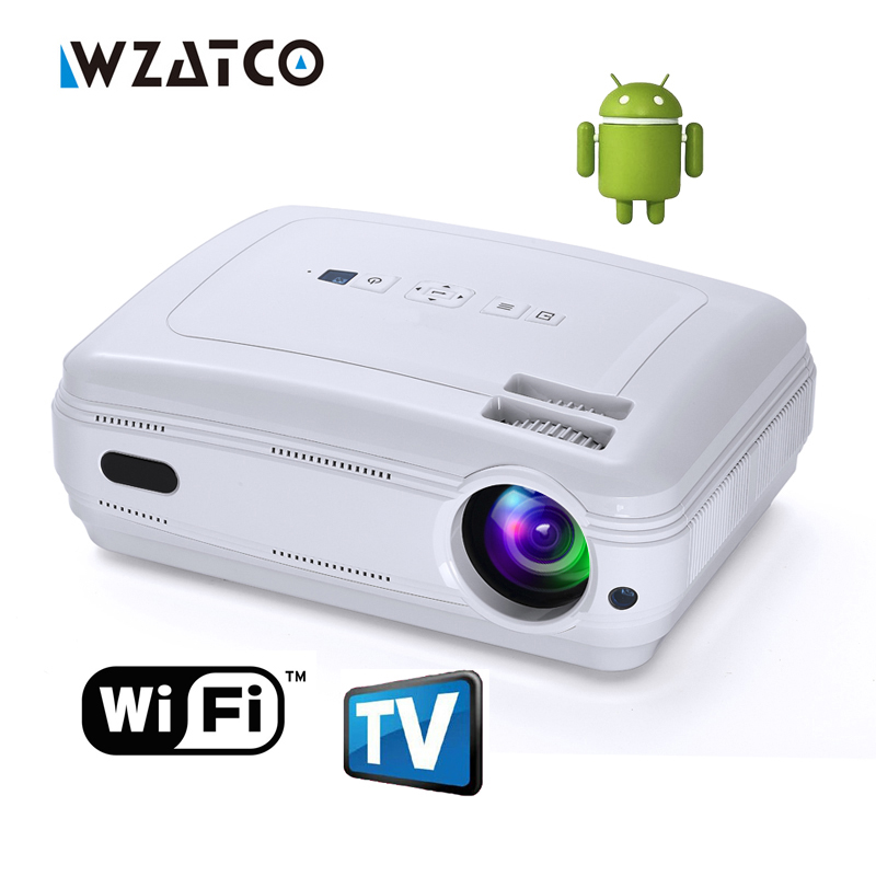 Newest Android 5.1 Smart WIFI Airplay Miracast bluetooth HD LED Projector 5000lumens TV Projetor Proyector Beamer multi for home