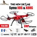 2016 el más nuevo drone syma x8g y x8hg 2.4g 4ch 6 ejes con Altitud Hold 8MP Gran Angular Hd Cámara RC Quadcopter RTF RC Helicóptero