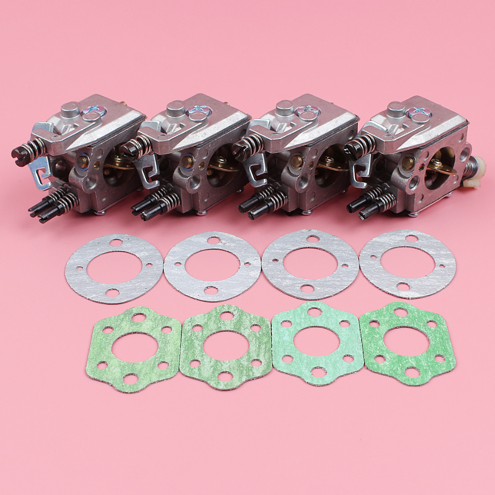 4pcs/lot Carburetor Carb Gasket Kit For Husqvarna 55 51 Chain Saw Replacement Part 503281504 Walbro WT-170-1 цены
