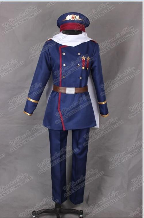 Axis Powers Hetalia APH Soviet Union Russia Ivan Braginsky Cosplay Costume Anime Custom Made Army Uniform
