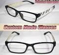 Vogue Branco padrão pernas black frame Ótico Custom made lentes ópticas óculos de leitura + 1 + 1.5 + 2 + 2.5 + 3 + 3.5 + 4 + 4.5 + 5 + 5.5 + 6