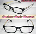 Vogue White pattern legs black frame Optical Custom made optical lenses Reading glasses +1 +1.5 +2+2.5 +3 +3.5 +4 +4.5 +5 +5.5+6