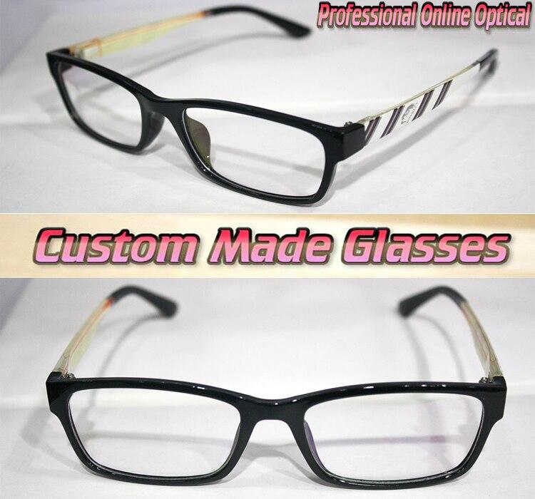 Vogue blanco piernas patrón negro marco óptico por encargo lentes ...