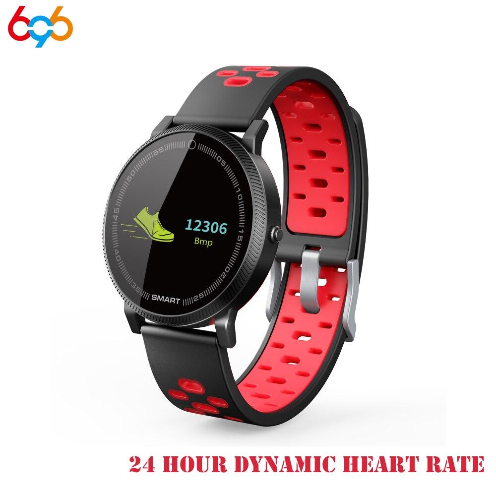 696 F4 Bluetooth intelligent bracelet Message alarme montre IP67 étanche Tracker Fitness alliage Smartwatch