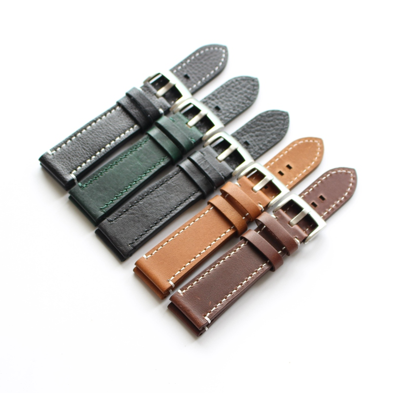 Handmade High Quality WatchBand Watch Straps 18mm 19mm 20mm 21mm 22mm Men and women green brown black band Stainless steel clasp 18mm 19mm 20mm 21mm 22mm available new high quality black or brown genuine leather watch bands straps free shipping