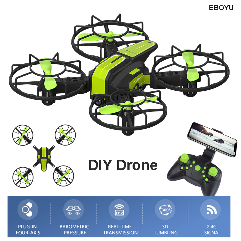 EBOYU X1 2.4G DIY RC Drone FPV Wifi 720P HD Camera RC Quadcopter w/ Altitude Hold Headless Mode RC Quadcopter Drone UFO flytec t18d rc quadcopter mini drone 4ch wifi fpv 720p hd camera rc drones height hold mode 6 axis ufo rtf drone with camera