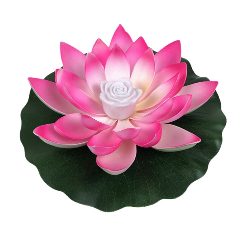 LED Floating Lotus Flower Lamps Decorations On Water Swimming Pool Garden Light Garden Tank Pond Decor