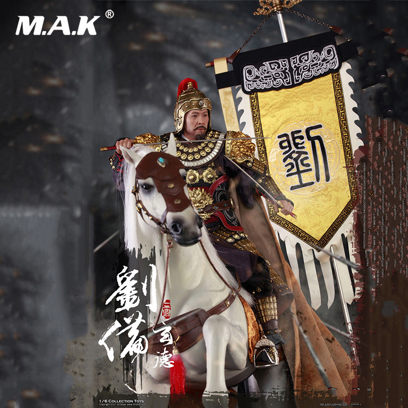 For collection 1/6 Scale 303TOYS Three Kingdoms Series Liu Bei and War Horse with Flag Full Set Three Kingdoms Figure falling kingdoms rebel spring