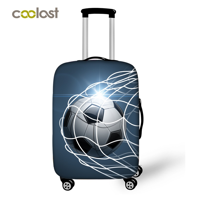 Cool Footbally Suitcase Protective Cover Travel Suitcase Cover Soccerly Elastic Trolly Luggage Cover Dust-proof Travel Accessory цены