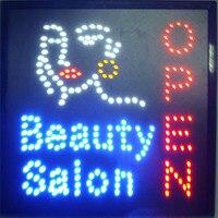 Лидер продаж красота салон магазин светодиодные вывески 19x19 дюймов спа Парикмахерская ногти магазин лицевой магазин неоновая вывеска