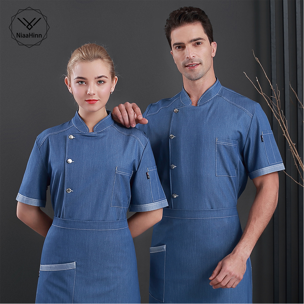 Cake Shop Waiter Workwear High Quality Chef Uniform Restaurant Breathable Chef Clothes Hotel Kitchen Cook Jackets Work Clothes