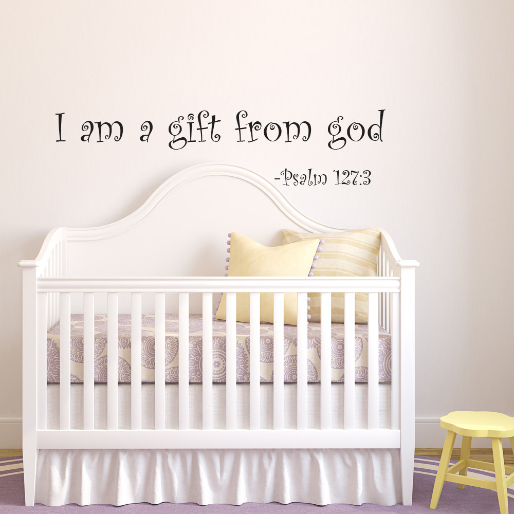 compare prices on baby room wall decals quotes online shopping quote vinyl wall decal stickers i am a gift from god for baby room decor