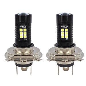 Image 2 - 2Pcs LED Fog Lights For Car 12V DC H4 3030 21 LED Lights White 6500K Car Fog Head Light Lamp Headlight Light Bulbs For Cars