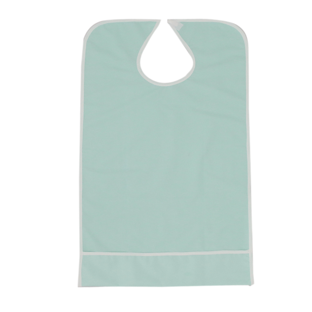 Waterproof Elder Adult Mealtime Bib Clothing Protector Disability Aid Apron Strong Absorbent