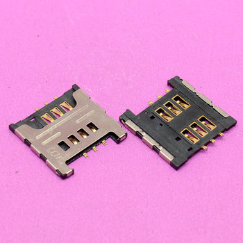 YuXi New Sim Card reader tray slot adapters for Samsung I9000 I9220 N7000 S5690 W689 S5360 S5570 sim card socket module. image