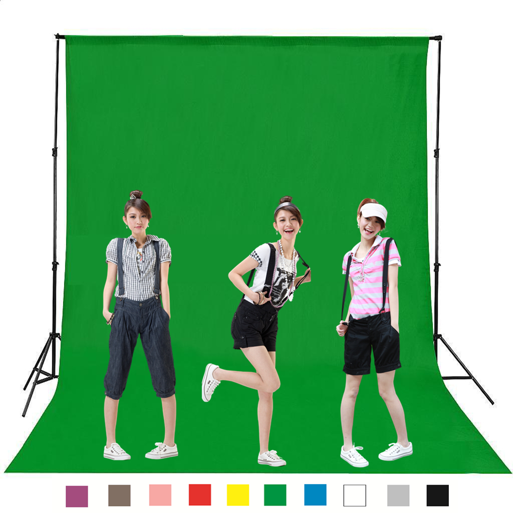 Hot Sale Green Color Cotton Non-pollutant Textile Muslin Photo Backgrounds Studio Photography Screen Chromakey Backdrop Cloth ashanks photography backdrops solid green screen 10x19ft chromakey cloth backgrounds porta retrato for photo studio