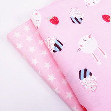 Baby Cotton Twill Fabric Patchwork Handmade DIY Sewing Quilting Material Lovely Rabbit For Child Bedding Blanket Dresses