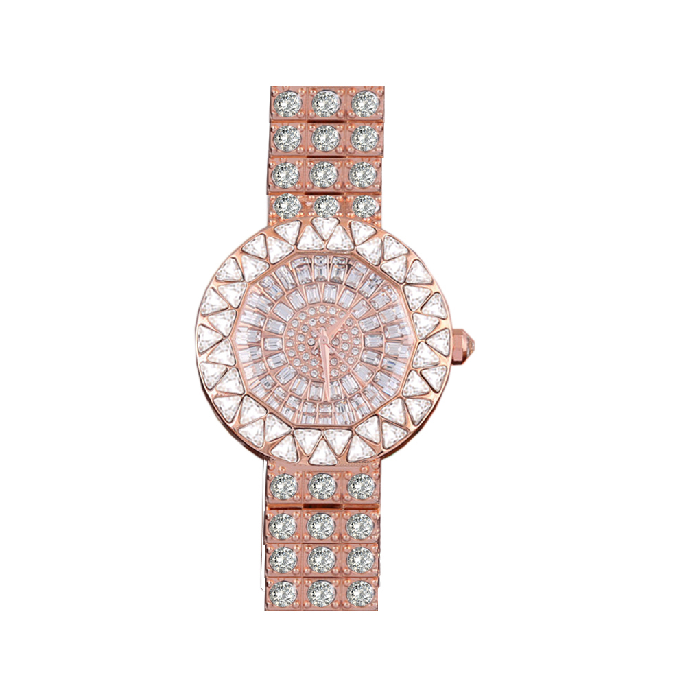 Top Brand Diamond Rose Gold Women Rhinestone Watch Female Fashion Steel Women Quartz Bling Dress watch for Ladies Bracelet tshing ray fashion women rose gold mirror cat eye sunglasses ladies twin beams brand designer cateye sun glasses for female male