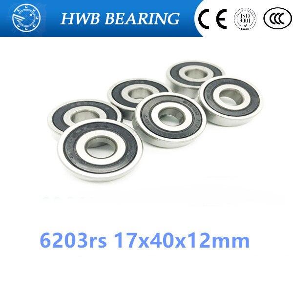 free shipping hybrid ceramic 1PCS 6203rs 17x40x12mm Shielded deep groove ball bearing  17*40*12 mm 6 free shipping 6203 2rs full si3n4 ceramic deep groove ball bearing 17x40x12mm 6203 2rs p5 abec5