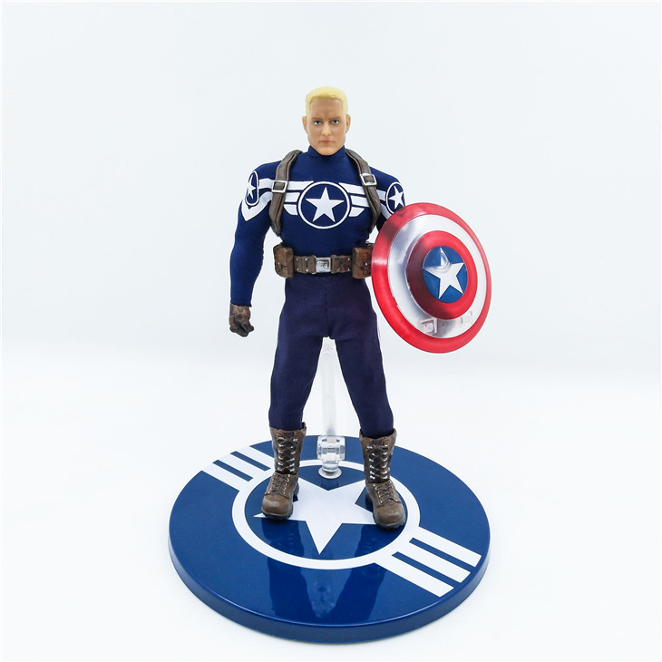 Mezco Marvel Avengers Captain America Action Figure 1:12 Collective Toys Collection Model 6
