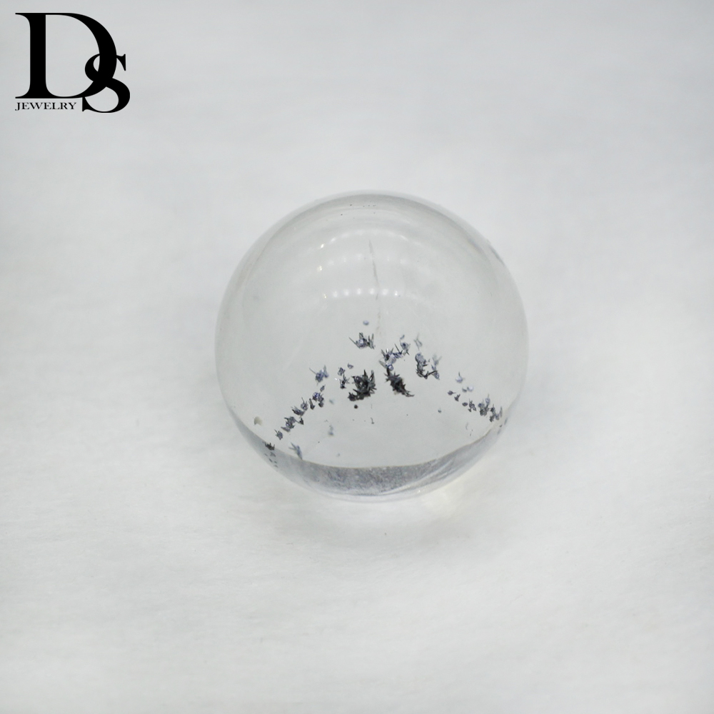 Rare! Natural Clear Quartz And Lead Zinc Silver Paragenetic Ore Ball Lucky Charm Healing Crystal Stone Collection DIY Jewelry