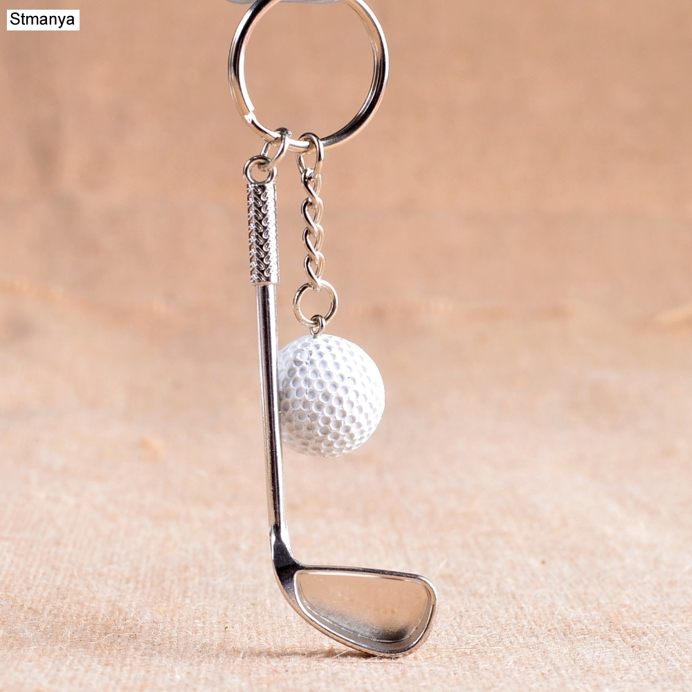 Golf ball key chain top grade metal Keychain Car Key Chain Key Ring sporting goods sports Gift For souvenir ball key ring 17167 tropical print metal ring halter top