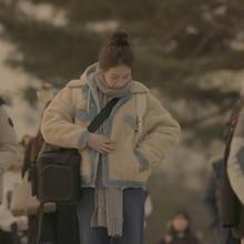 2016 НОВОЕ ПРИБЫТИЕ зима пуховик сгущает с длинным рукавом нагрудные хлопок одежда Длинный участок простой сплошной цвет теплый пуховик