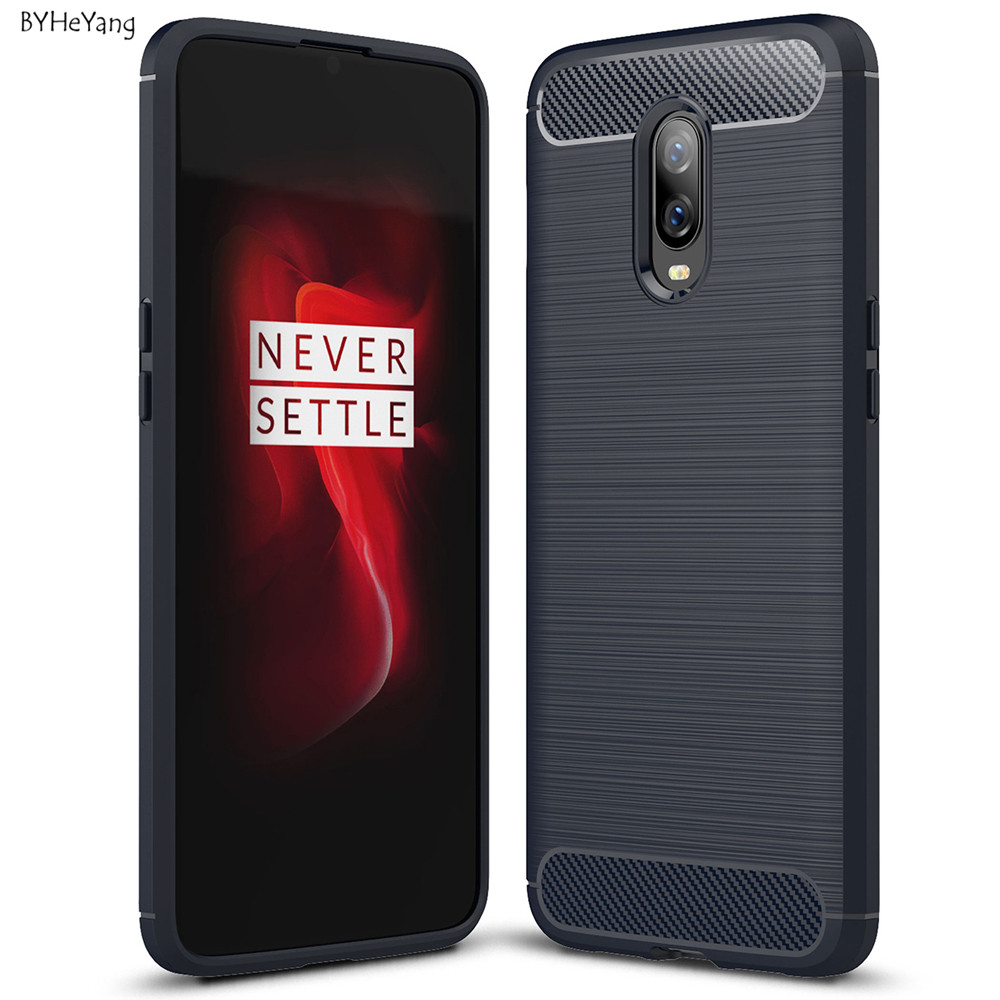 For One plus 6T A6010 Case One plus 6T Soft TPU Silicone Soft Anti-Knock Protective Back Cover For <font><b>OnePlus</b></font> 6T <font><b>A6013</b></font> 1+6T Cover image