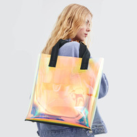 2019 Spring and Summer New Transparent Rainbow Shoulder Bag Tote Large Capacity Bag