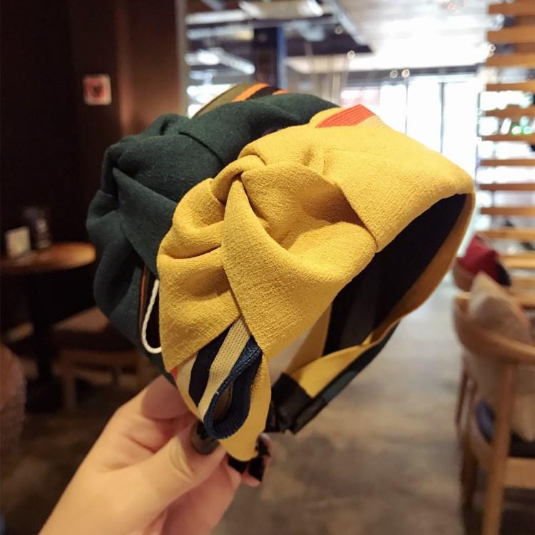 Korea Hand Made Velvet Big Bow Wide Hair Accessories Band for Girls Hairband Flower Crown Headbands For Women