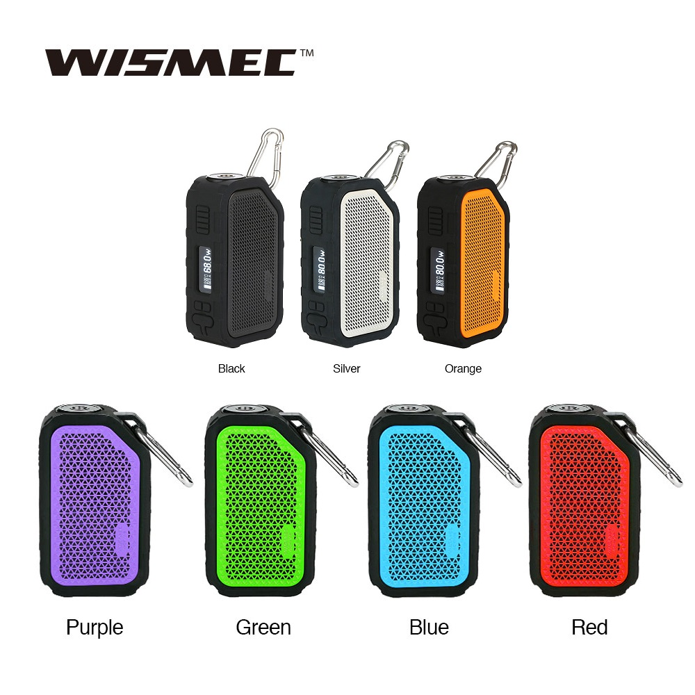 Original Wismec Active 80W Active BOX MOD Vape Bluetooth Speaker Waterproof Electronic Cigarette Vaporizer Fit AMOR