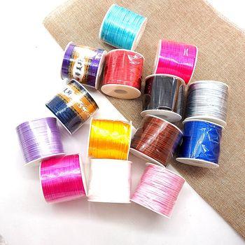 Chenkai 2mm 50M/Roll 14-Color Soft Macrame Silk Satin Nylon Cord Rope DIY Silicone Baby Teether Nursing Necklace Bracelet