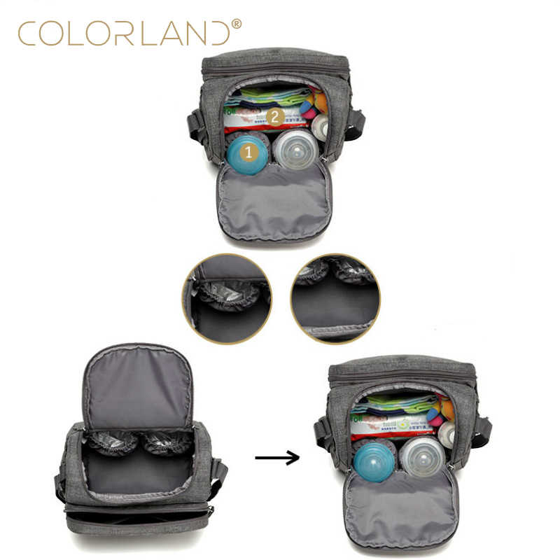 7f46e50832 ... COLORLAND Baby Care Diaper Bag Mom Backpack Nappy Changing Maternity  Stroller Mommy Mummy Wet Organizer Mother ...