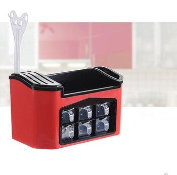Organizzatore Portaspezie | 1 PC Multifunzione Coltello Da Cucina Forchetta Spice Rack Di Coltello Di Plastica Scaffale Condimento Vaso Dell'organizzatore Di Immagazzinaggio Della Cucina Supporto Di JO 1093