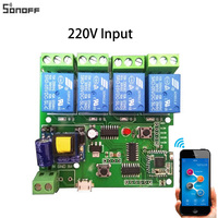 Sonoff Smart Remote Control Wireless Switch Universal Module 4ch DC 5V 12V 32V 220V Wifi Switch
