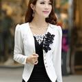 Nova blazer feminino 2017 primavera outono outerwear casaco fino outerwear blazer elegante plus size roupa das senhoras das mulheres jaqueta
