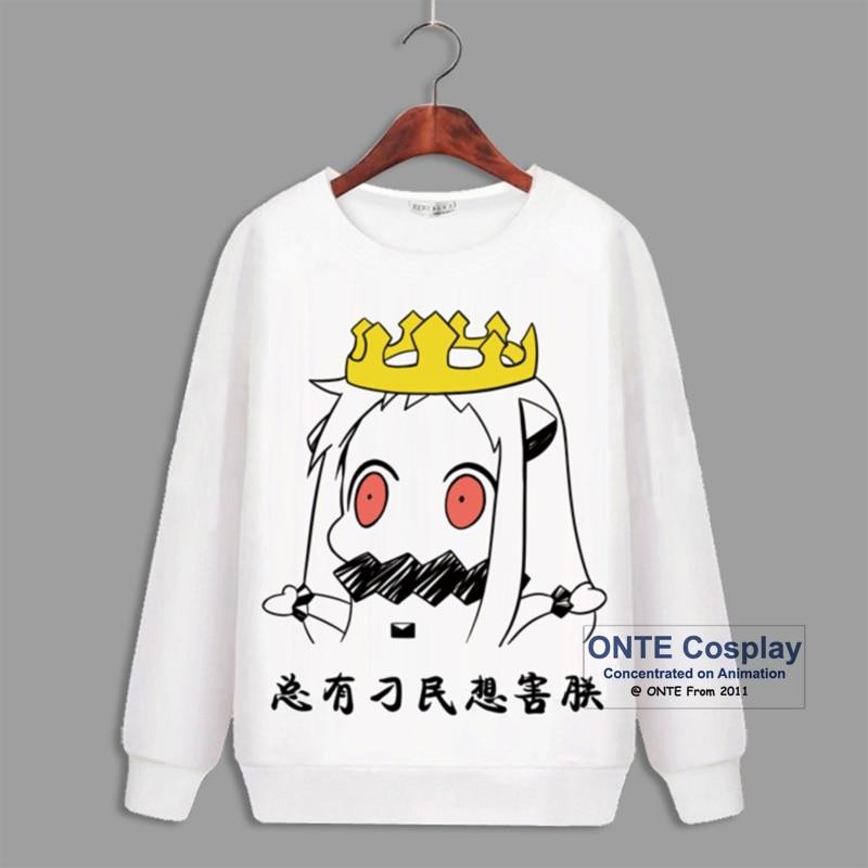 Hot Games Kantai Collection Cosplay Costumes Battleship Long Sleeve Hoody Fleece Hoodies Cute Print Tops Sweatshirts