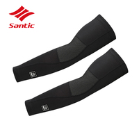 1 Pair Santic Arm Sleeve Winter Men MTB Road Cycling Sleeves Thermal Fleece Warm Arm Warmers Basketball Sleeve Manguito Ciclismo