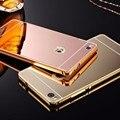 Новый Роскошный Зеркало Case Алюминиевая Рама Бампер Случаи Задняя Крышка Для Huawei Ascend P8 Lite P8 Mate 8 Case