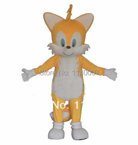 dad451560 mascot Miles Tails Prower fox Mascot Costume Miles Tails Prower Carnival  Cosply Costume Outfit