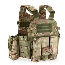 Chaleco Modular de nailon Molle de camuflaje Multicam para hombre, chalecos de combate táctico para caza al aire libre, ropa militar, chaleco del ejército, 6094