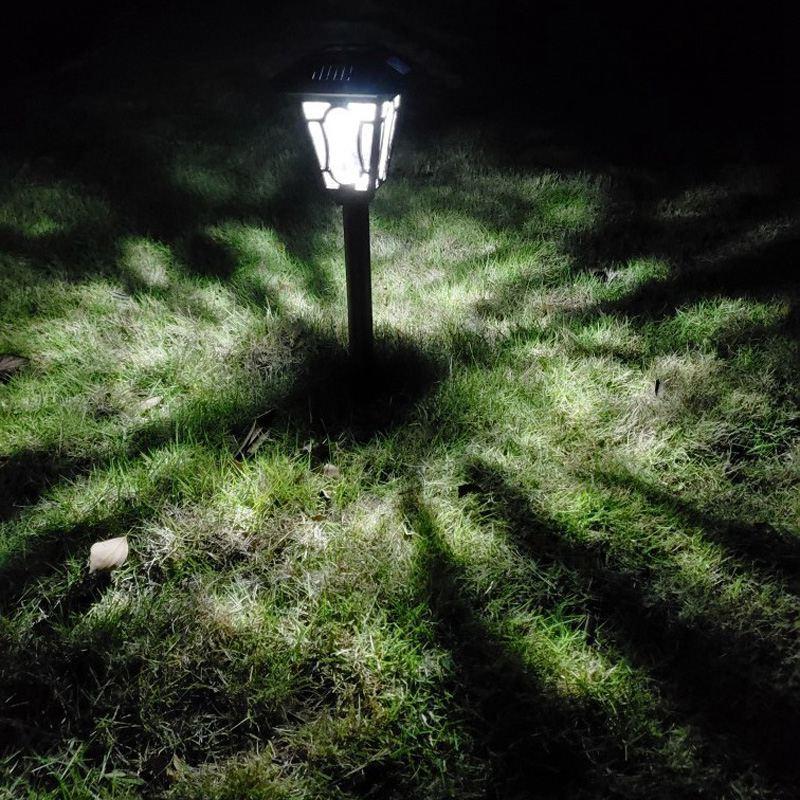 Säule LED Solar Powered Freien Garten Lampen Rasen Pathway Lampe Kaffee Aluminium Gehäuse LED Hof Solar Lichter zebra crossing - 6