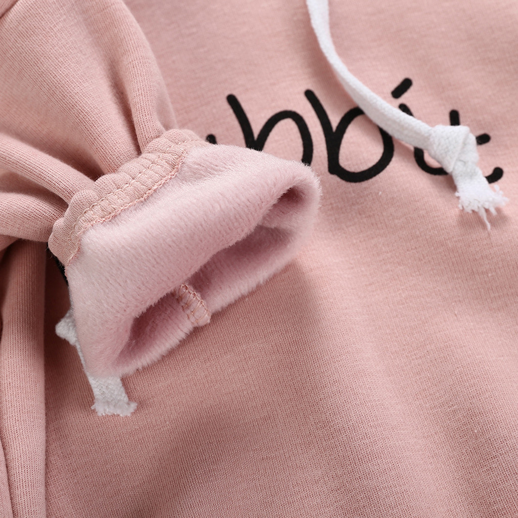 Todder Kid new born baby clothes Girl Boy Rabbit Letter Sweatshirt Tops Spring Autumn clothes Pullover Bodysuit baby costumes