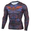 Mens Compression Real Shirt Iron Man Long Sleeve 3D Print Lycra Crossfit T Shirt Men T-Shirts Fitness Clothing Tops Male Madrid