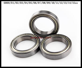 5-10pcs/Lot 6800ZZ / 6801ZZ / 6802ZZ / 6803ZZ / 6804ZZ / 6805ZZ Metal Shielded Thin Wall Deep Groove Ball Bearing image