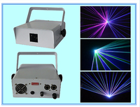 רשא חדש 1 W RGB צבע מלא אנימציה לייזר שלב אור דיסקו DJ קרן לייזר שומן 1 W RGB 3D אור לייזר כרטיס SD וילון גשם 2D