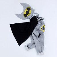 YK Loving Masquerade Costume Batman Baby Cosplay Clothes 2018 Winter New Warm Bodysuit Kids Children Novelty